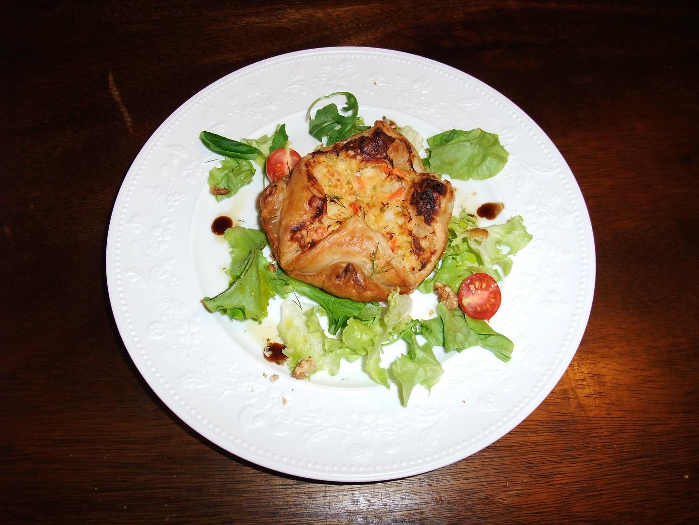 Pour le dîner au chateau des Coquilles St. Jaques en croute