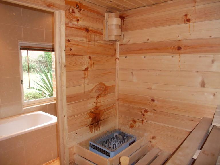 Sauna dans le gite Epilly